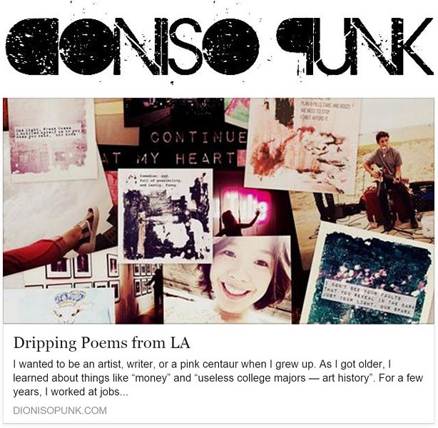 Dioniso Punk Dripping Poems from LA Kristen Lem