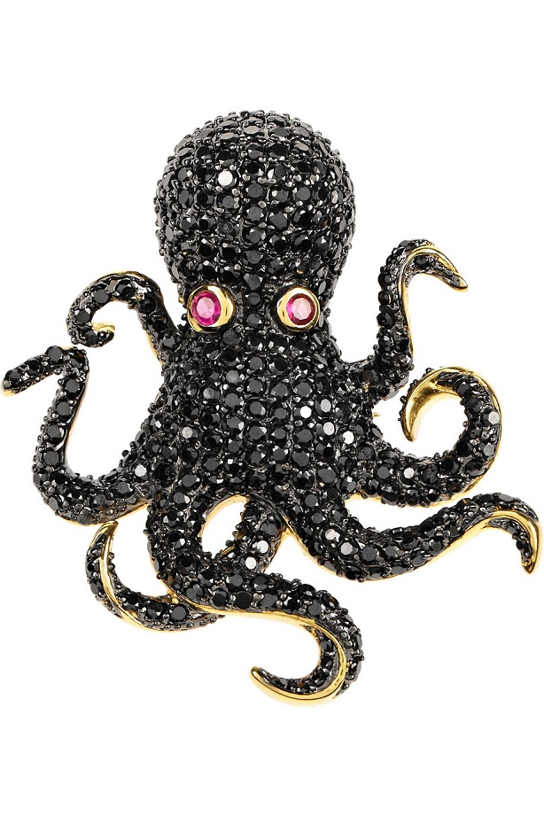 jules jeweled octopus ring noirnyc