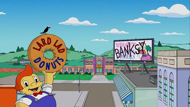 banksy simpsons