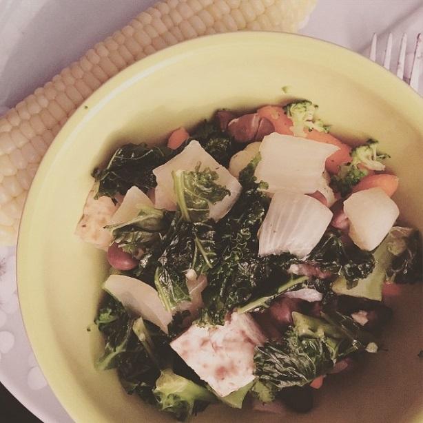 brazil bowl coconut rice beans tofu kale vegan vegetarian