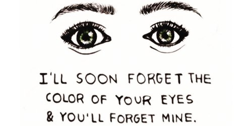 so it goes forget eyes